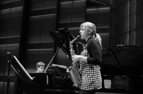 Performing at the Muziekgebouw in Amsterdam